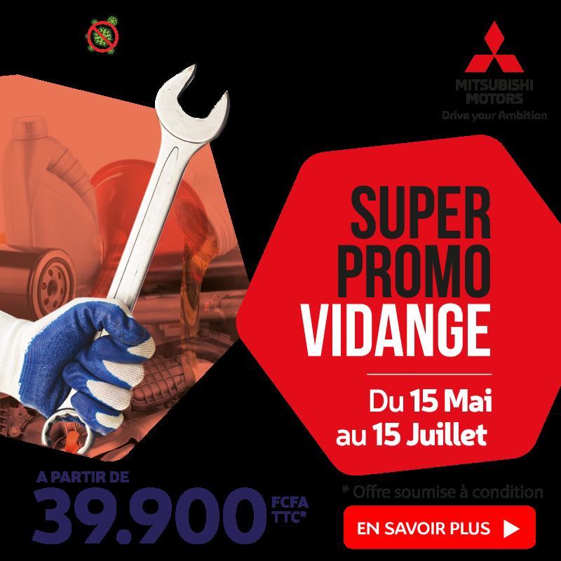 Promo Vidange à partir de 39.900 FCFA | Mitsubishi Côte d'Ivoire